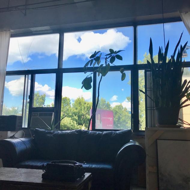 view from studio window