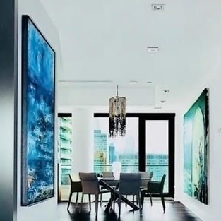 Studio Pyramid Inc features 'Eastern Sea' in one of their interiors in Toronto