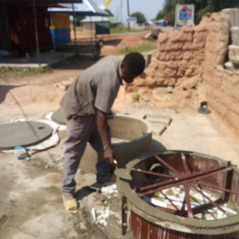 Sama Sama Toilet Business Owner Making Cement Rings