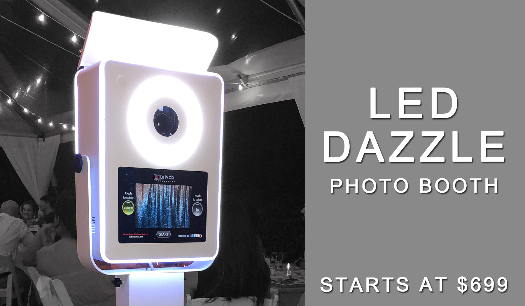 LED Dazzle Photo Booth