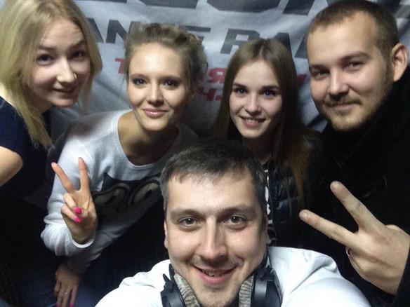 Katusha Svoboda - Special Guest at Radio Record (Tolyatti, Russia)