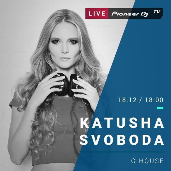 18/12 - Katusha Svoboda @Pioneer Dj TV, Moscow, Russia