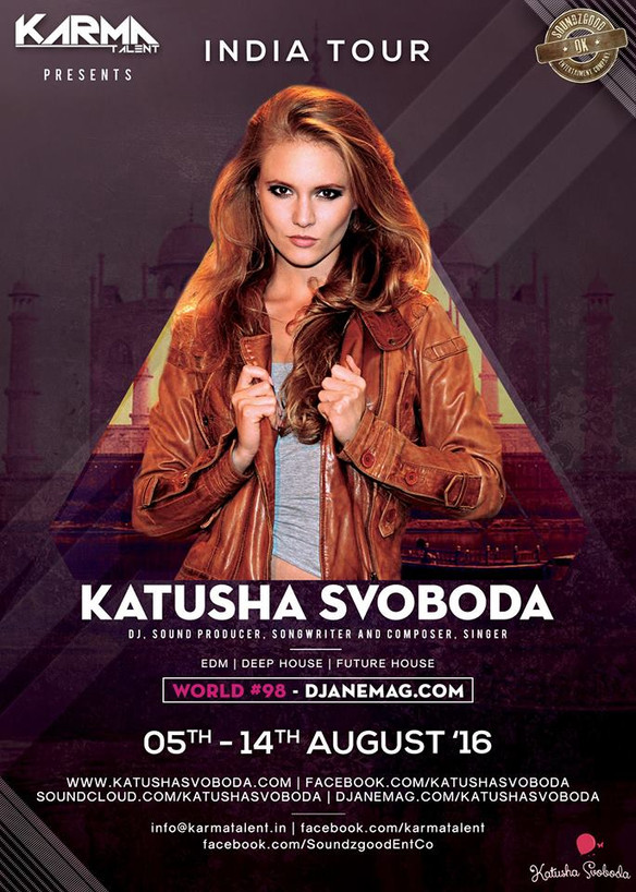 5-14 August - Katusha Svoboda On Tour In India with Karma Talent