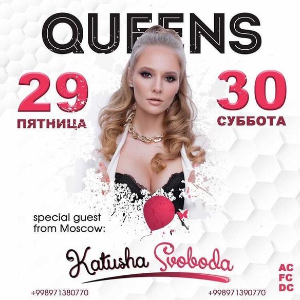 29,30/01 Katusha Svoboda @Club_Queens, Tashkent, Uzbekistan.