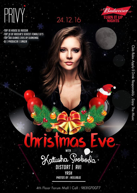 24/12 Katusha Svoboda @ Privy Ultra Lounge, Kolkata, India
