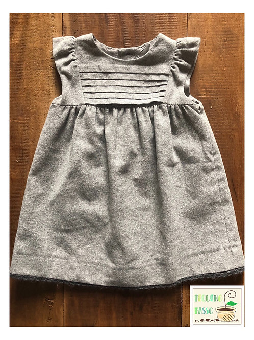 Vestido cinza - Zara