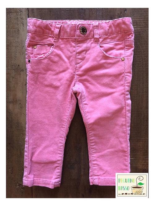 Calça rosa veludo cotelê - Zara