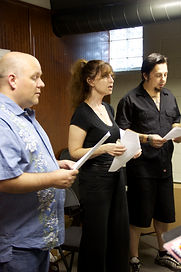 Three students from Akron, Cuyahoga Falls, and Stow learning how to sing