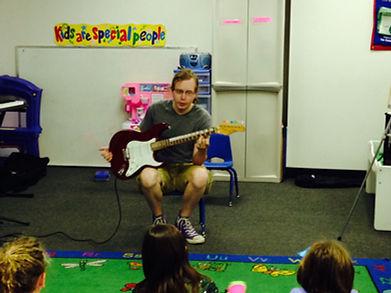 Mike Lowden, a guitar teacher at Green Music School