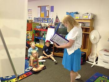 Teaching kids how to sing!
