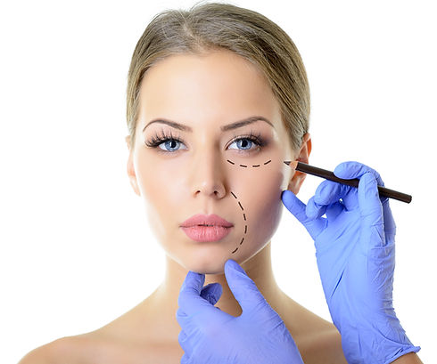 Beautiful woman ready for cosmetic surge