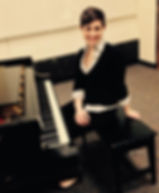 A picture of our piano teacher.