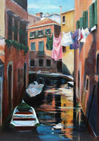 Sunlit Backwater, Venice