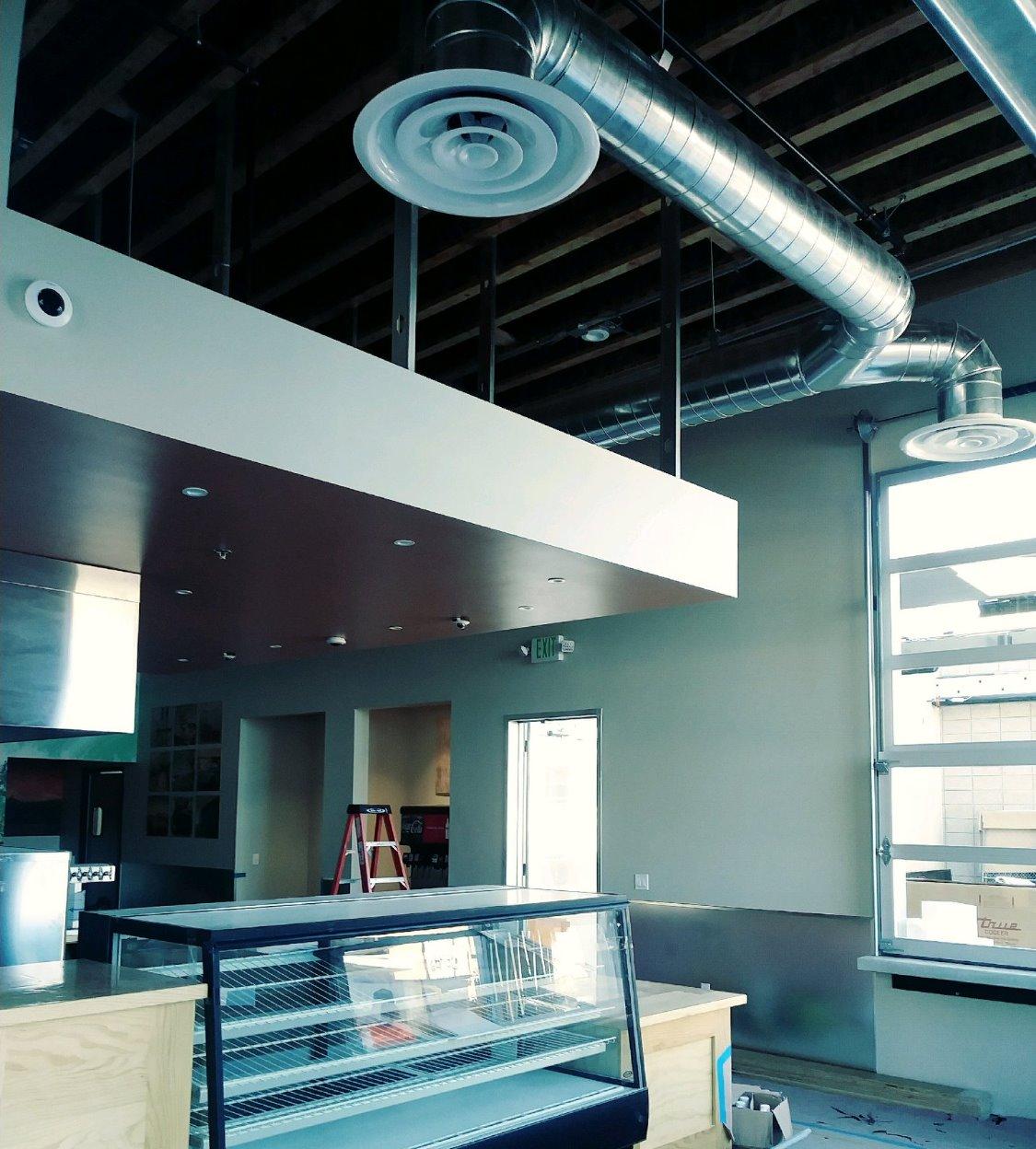 Restaurant Interior Ducting