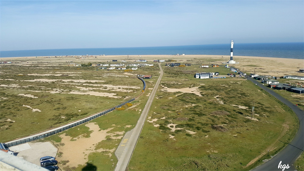View of Dungeness from the top of the Old Light house