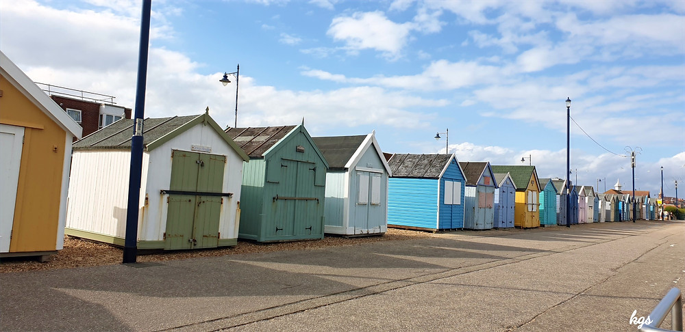 Colourful Beach Huts in Felixstowe