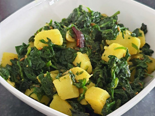 Spinach potato/Aloo Palak