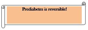 Pre diabetese is reversible