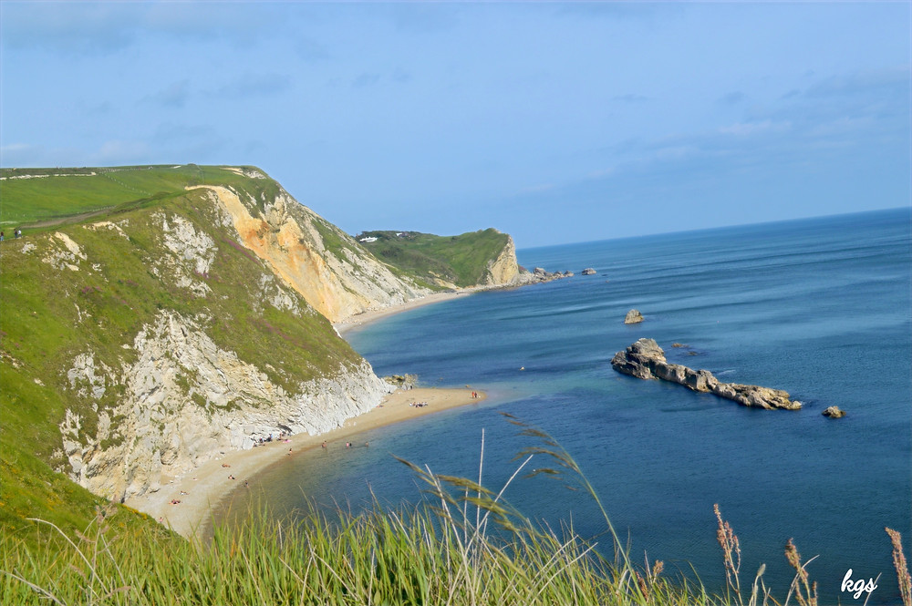 white cliffs of Durdle Door