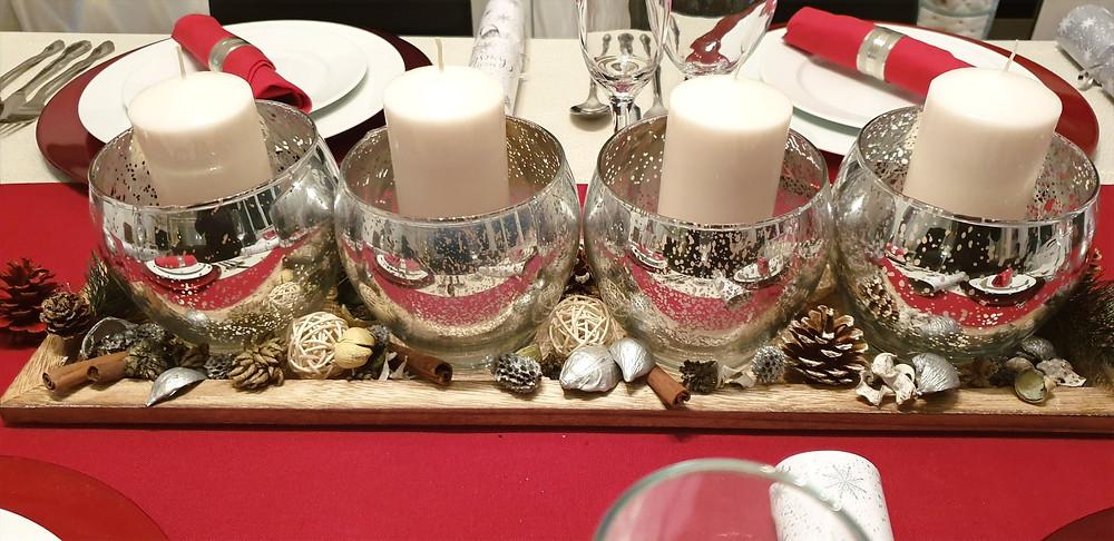 Festive table centrepiece