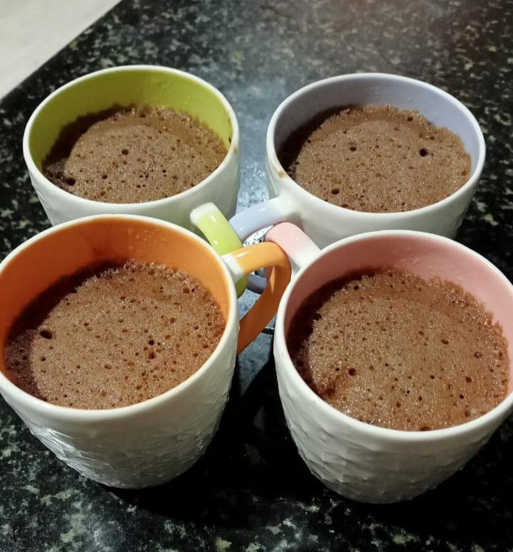 Chocolate cup cake in a mug