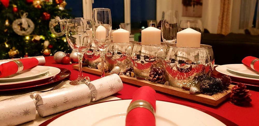 Elegant Festive Christmas table setting