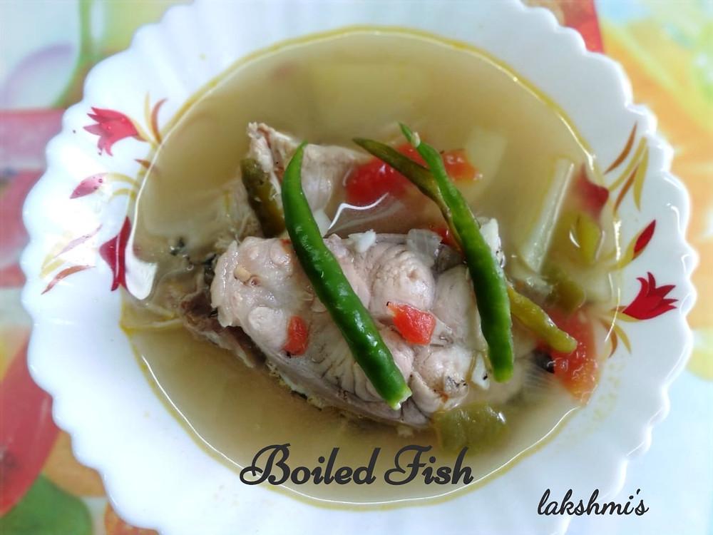 fish stew, boiled fresh water fish