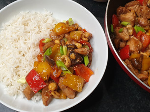 Honey Cashew Chicken with Mushroom & Bell Peppers
