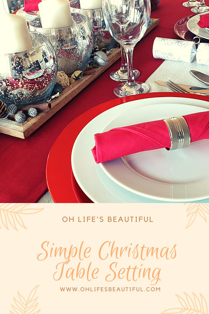 Christmas table styling/ Christmas table setting