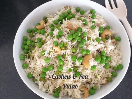 Cashew and Pea Pulao