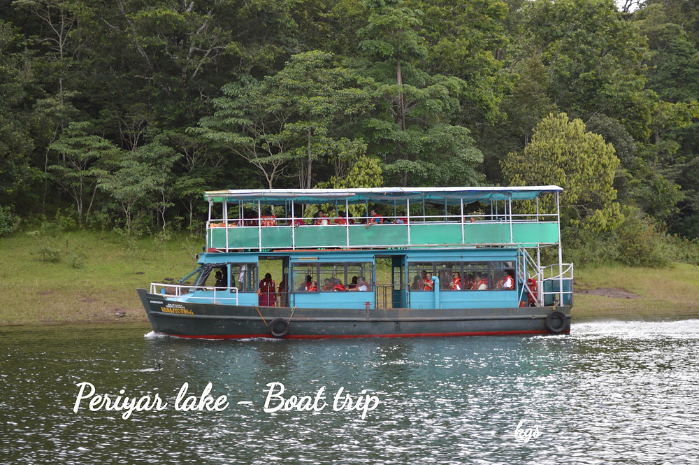 Sightseeing boat on the Periyar Lake