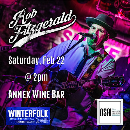 Rob Fitzgerald Winterfolk Festival 2020.