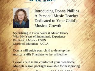 Destiny Productions, Music Teacher - Santa Maria, CA & Online