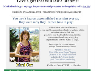 Marsi Carr's Music Lessons - Valley Center, CA (no website to verify, contact later, CLOSED)