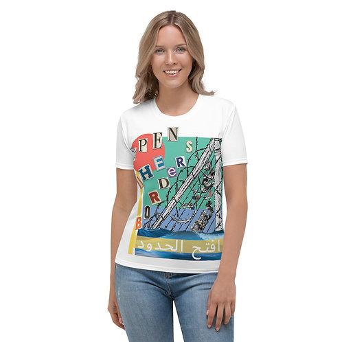 Open the Borders | افتح الحدود | femme t-shirt