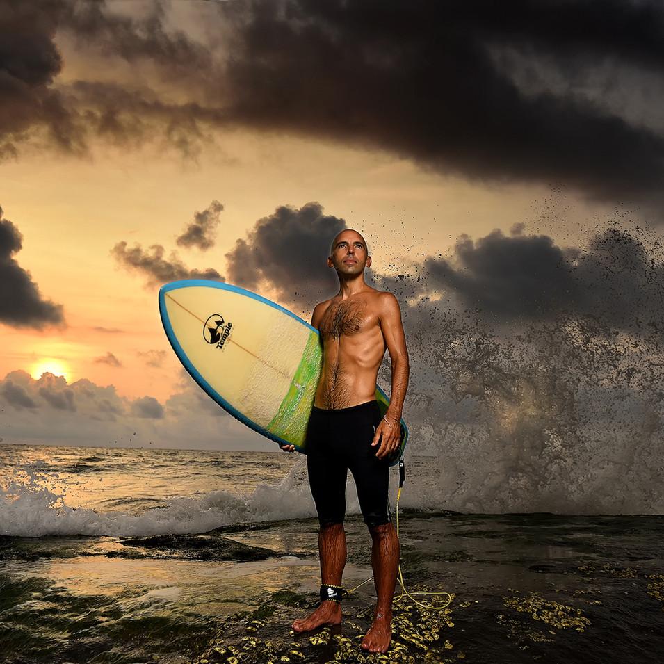 Surfer at Kovalam