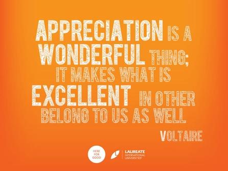 Appreciation is a wonderful thing, it ma