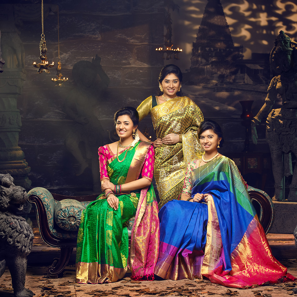 Silk saree photo shoot by R Prasanna venkatesh