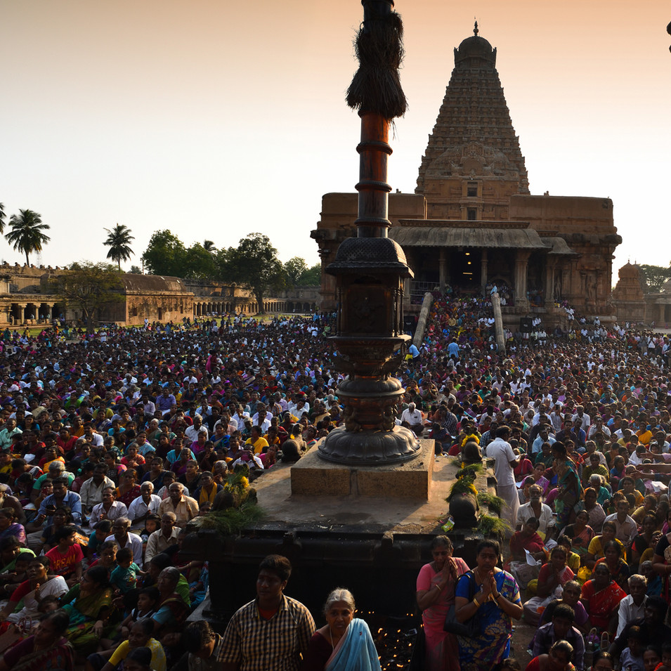 Pradosham crowd at Big temple