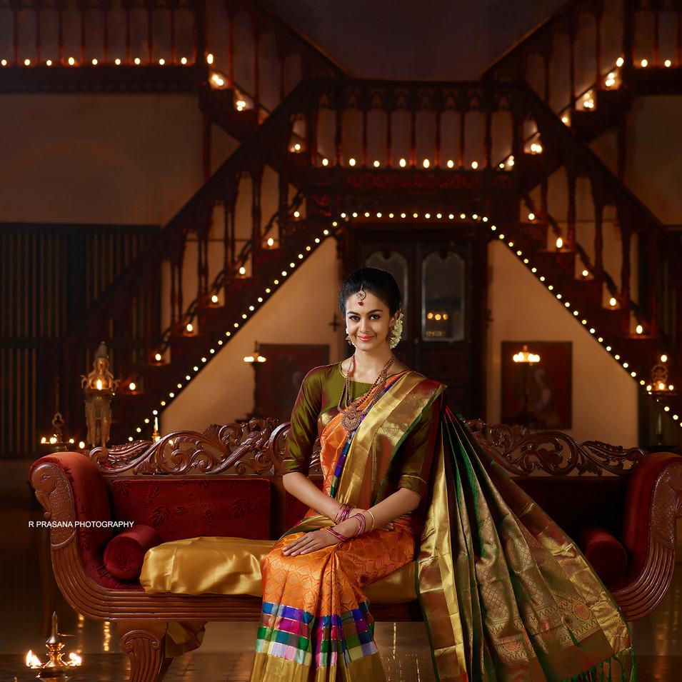 Silk saree shoot