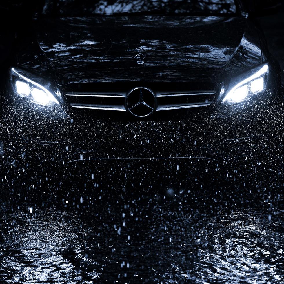 Benz in Rain