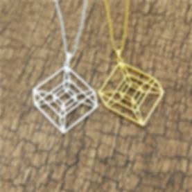 925-Sterling-Silver-&-Gold-Hypercube-Sac