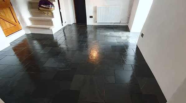Spotlessly clean tiles & grout completed by MTM Tile Showroom