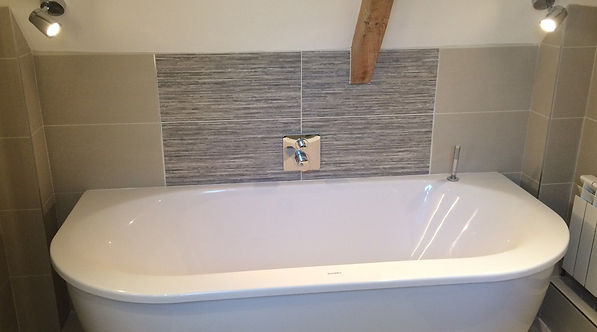 Bathroom supplied and tiled by MTM Tile Showroom