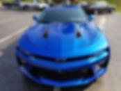 Chevy Camaro Blue Paint Sealant Hood Tre