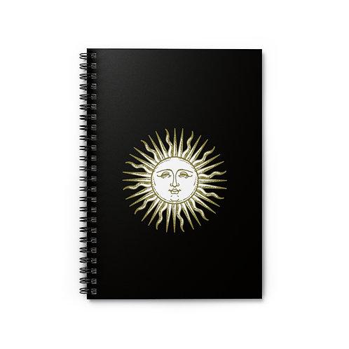 Sun Face - Ruled Spiral Notebook