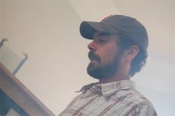 Zach Driscol lighting a scene