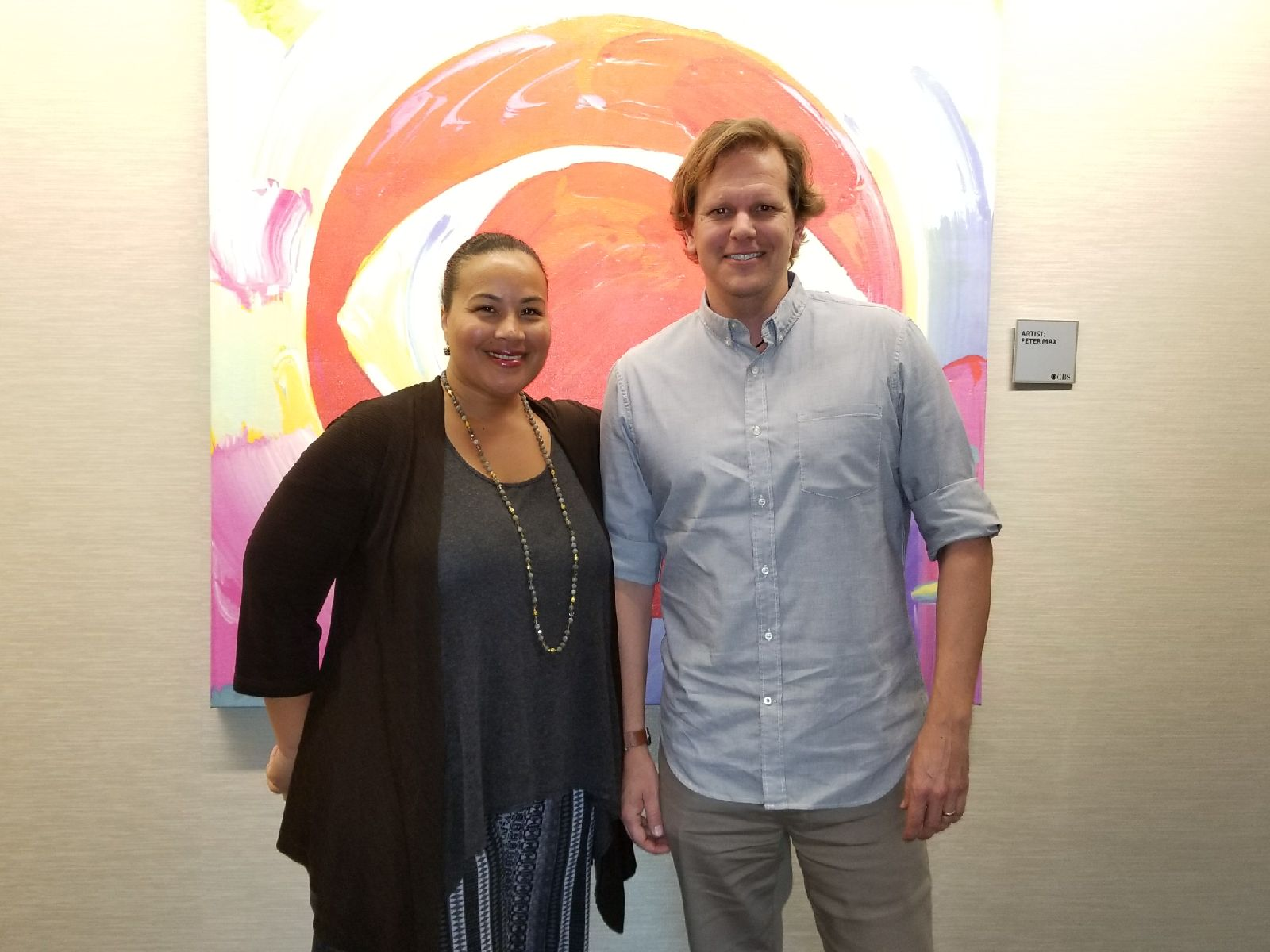 CBS's Tiffany Smith-Anoa'i with Cory Reeder