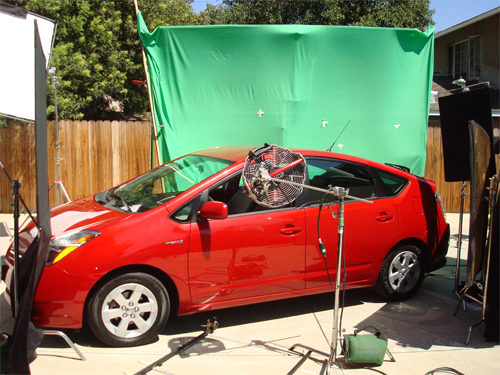Green screen driving shots