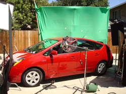 Green screen driving shots